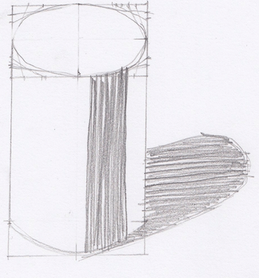 円柱の影の描き方1