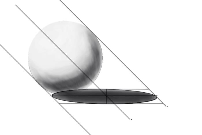 レイヤーの範囲選択からの球体の陰21