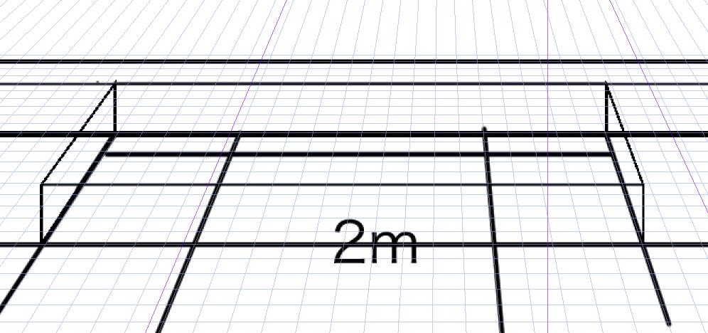 パースを使って教室を描く・一点透視図法32