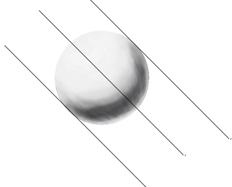 レイヤーの範囲選択からの球体の陰14