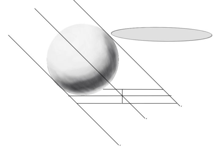 レイヤーの範囲選択からの球体の陰18