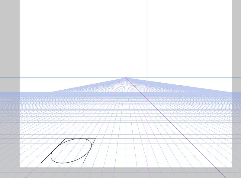 クリスタ 楕円 パース3