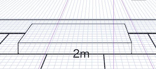 パースを使って教室を描く・一点透視図法33