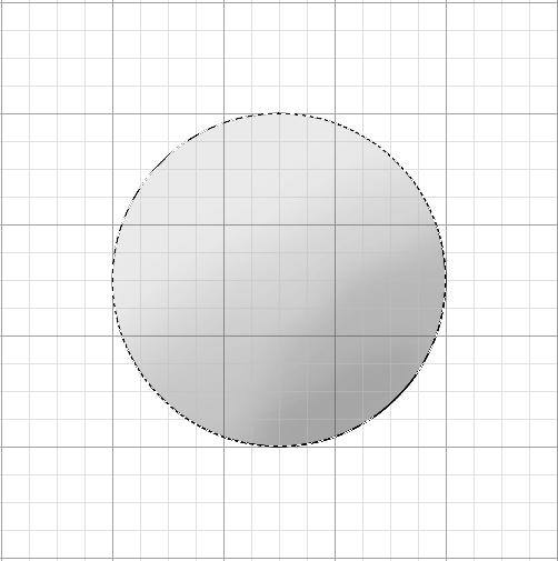 レイヤーの範囲選択からの球体の陰8
