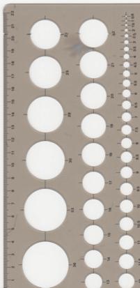 球を描く定規