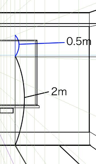 パースを使って教室を描く・一点透視図法35