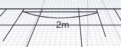 パースを使って教室を描く・一点透視図法31