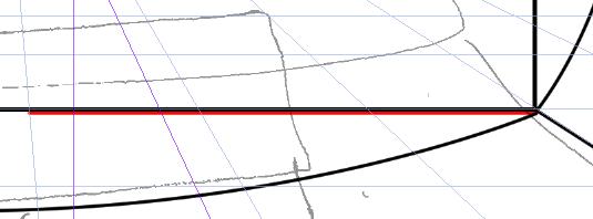 パースを使って教室を描く・一点透視図法5