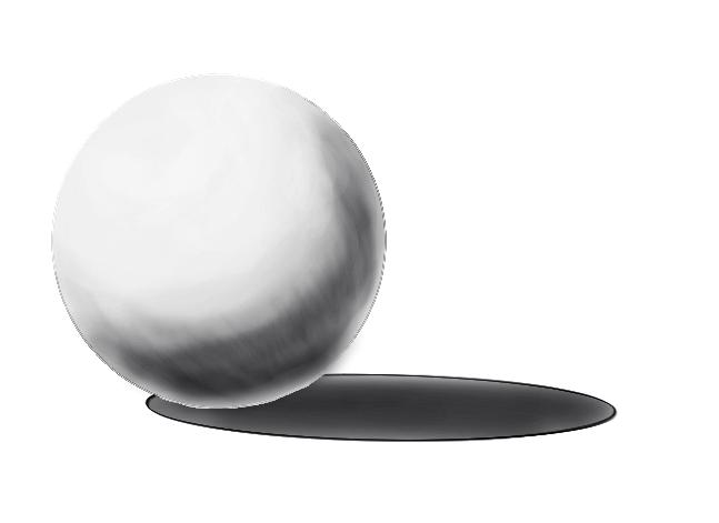 レイヤーの範囲選択からの球体の陰22
