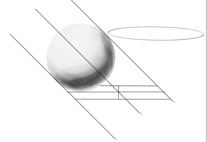 レイヤーの範囲選択からの球体の陰17