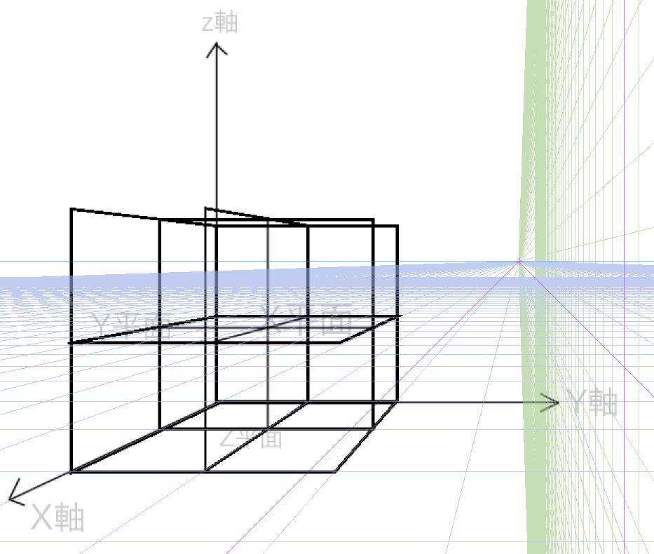 球体と立方体、描き方の実験2