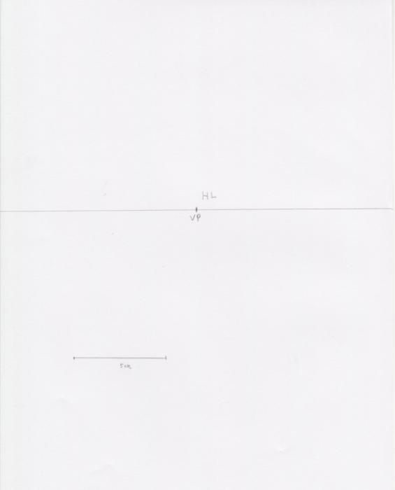 一点透視図法と対角線の消失点の説明1
