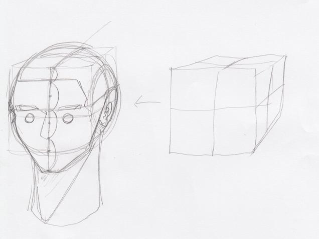 一点透視図法と対角線の消失点の説明12