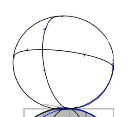 球体と立方体、描き方の実験12