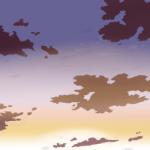 【クリスタ】【背景画】夕空・夕焼けの描き方について考察