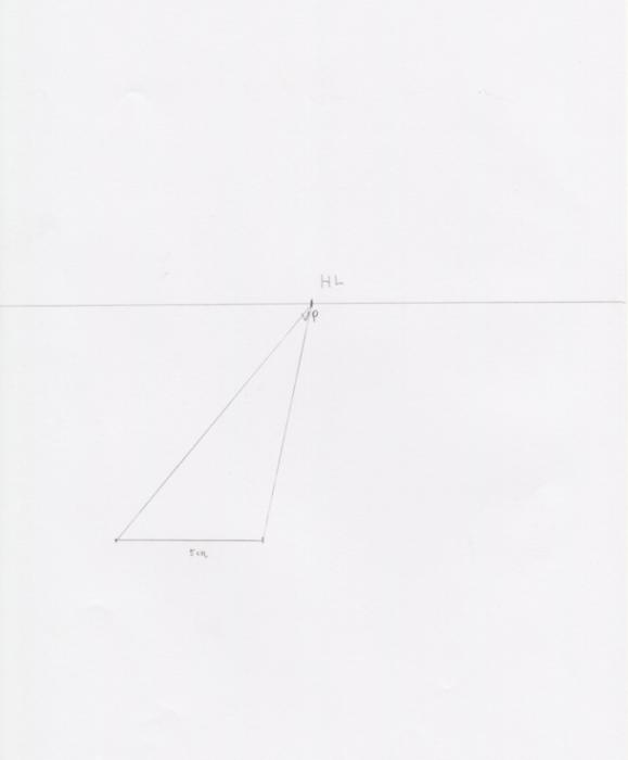 一点透視図法と対角線の消失点の説明2