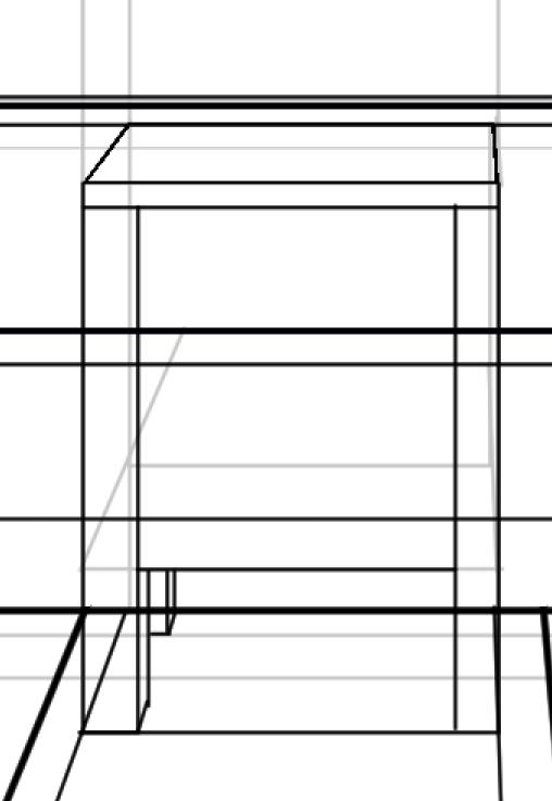 パースを使って教室を描く・一点透視図法85