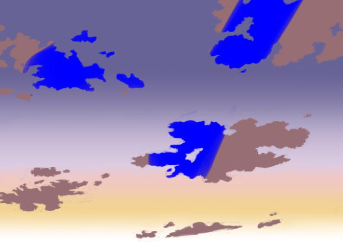 夕空の描き方、書き方6