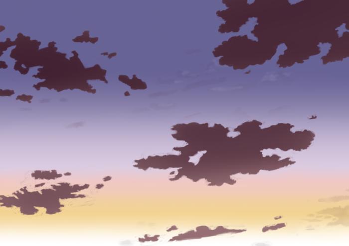 夕空の描き方、書き方9