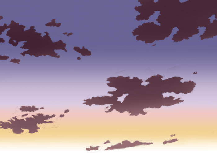 夕空の描き方、書き方8