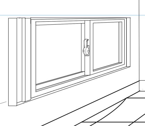 パースを使って教室を描く・一点透視図法72
