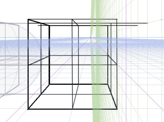 球体と立方体、描き方の実験7