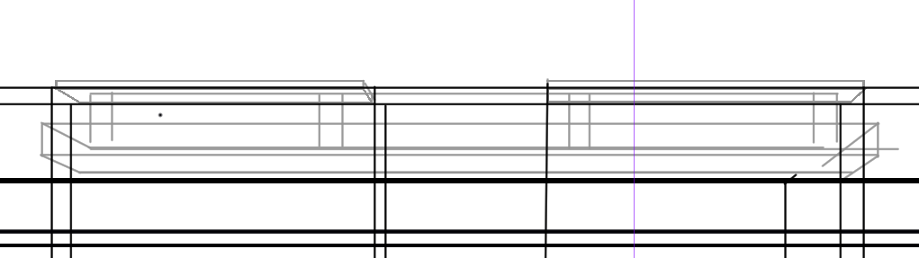 パースを使って教室を描く・一点透視図法76
