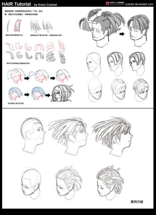 髪の描き方・髪の塗り方・髪の書き方・髪の講座4
