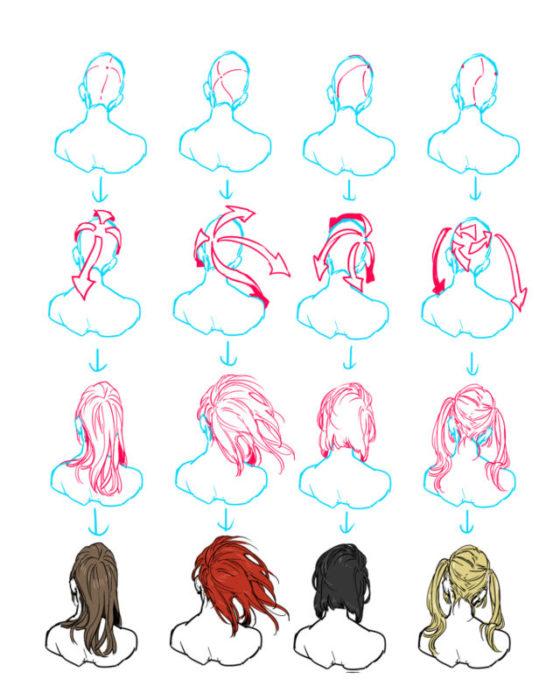 髪の描き方・髪の書き方講座まとめ1