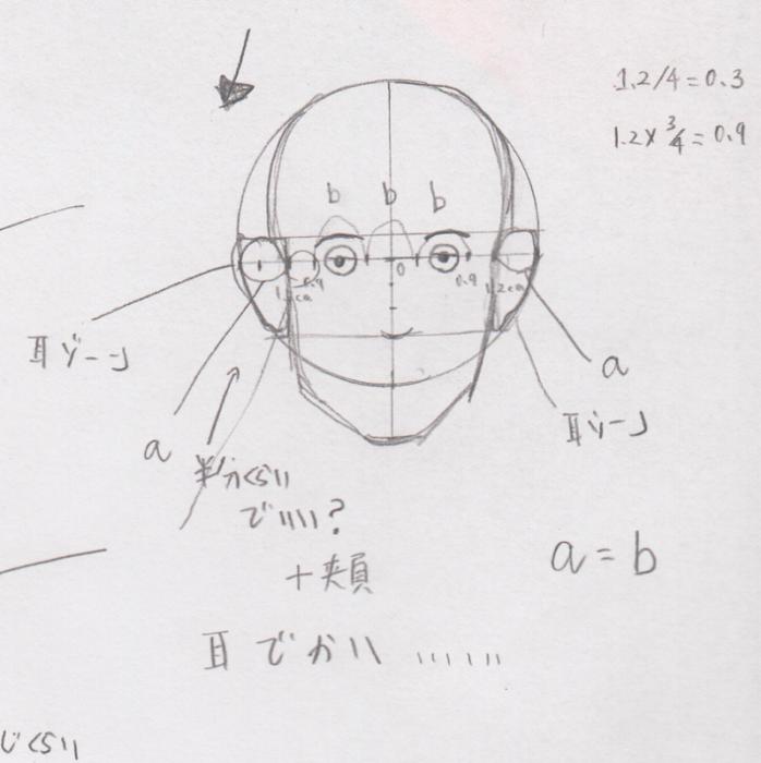 目の位置、目の幅、目の描き方、目の書き方、目の割合、目のプロポーション、目の黄金率6