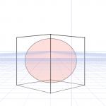 パース(透視図法)における立方体内の球体はどう見えるのか
