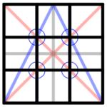 【アナログ】正方形を分割する方法とは(2分割、3分割、5分割)