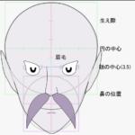 【顔の描き方】目から顔を描く方法、球体へのアクセスについて