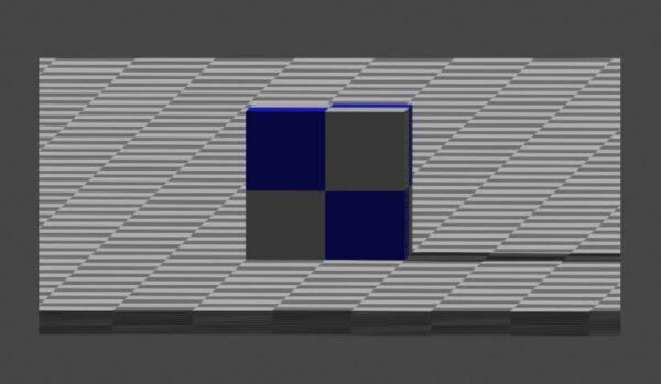 平行投影のレンダリング