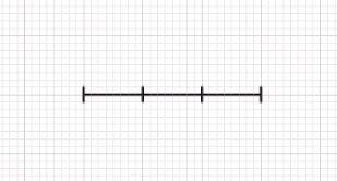 3本の均等な線