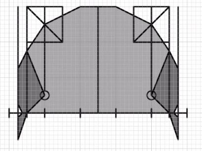 側頭線のカーブを利用したイメージ