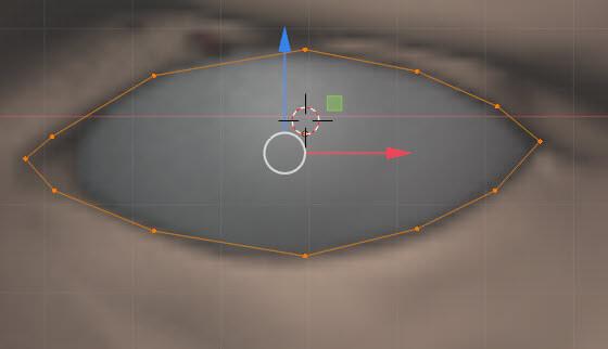 眼に合わせて円を変形
